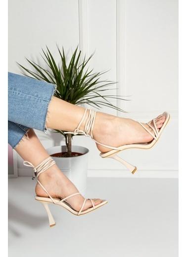 Derithy Royden Topuklu Ayakkabı-Ten-Byc1112 Ten